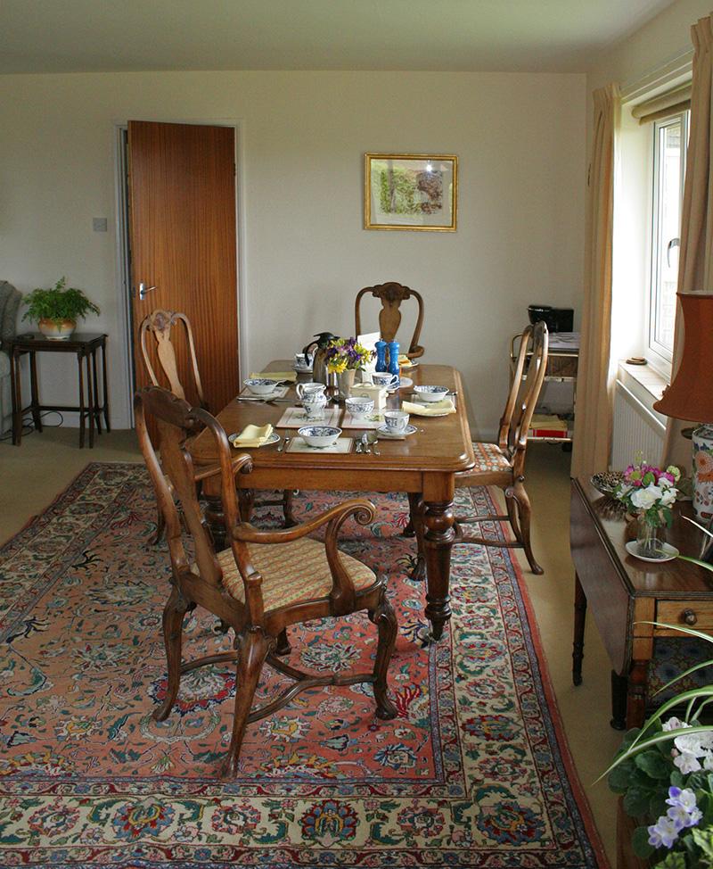 Colesmoor Farm Accommodation Dining Room