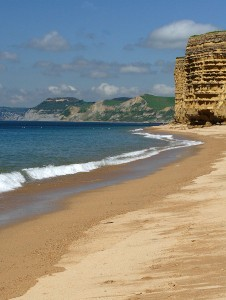 The beach at Burton Bradstock